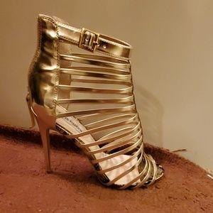 Steve madden gold gladiator heels